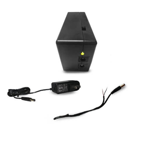 VIS-6002BB 12V 1Amp 1 Channel Battery Backup Device with One 10ft DC Wire  Mini Ups
