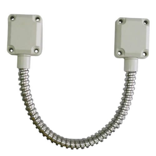 Visionis VIS-2000 Flexible Stainless Steel Armored Door Loop Zinc plated  with Nylon ends