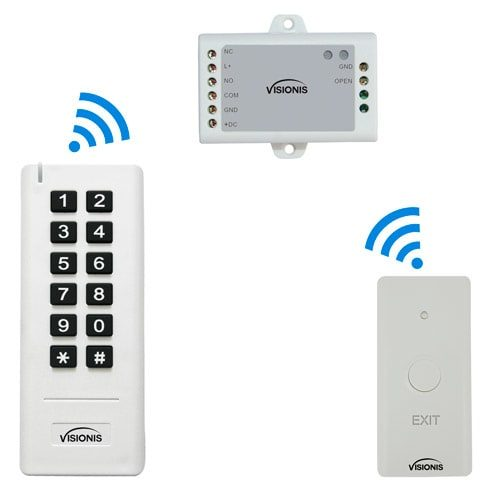 White Wireless Card Reader and Exit Button