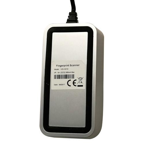 VIS-3016 Fingerprint Scanner Rear View