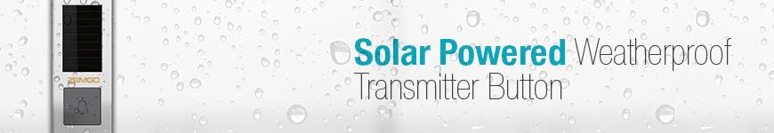 Solar Powered Weatherproof Transmitter Button