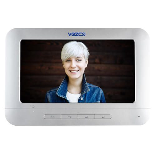 Analog Video Intercom Indoor Station 7 Inch Monitor Screen
