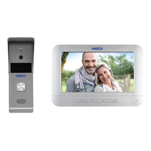 Analog Video Intercom with Outdoor Station Metal Casing 720p Resolution Camera with 7 inch Monitor Screen Kit