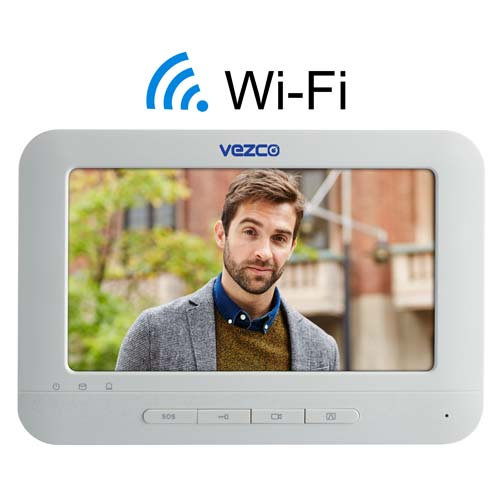 Touch Screen and Touch Pad Video Indoor IP and Wi-Fi Station Intercom Monitor 7 Inch Screen