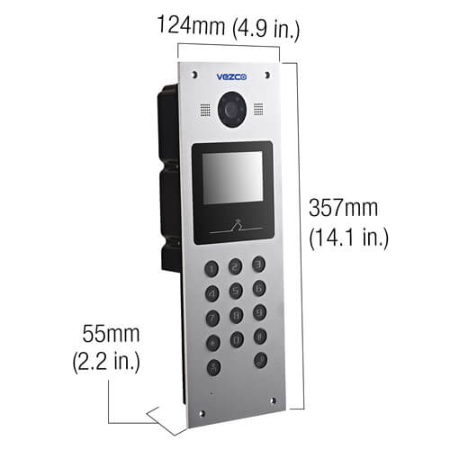 Dimensions Video Intercom