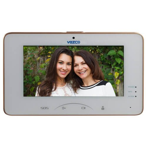 Touch Screen Video Indoor IP and Wi-Fi Station Intercom Monitor 7 Inch Screen with Camera 2 Way Video and Audio