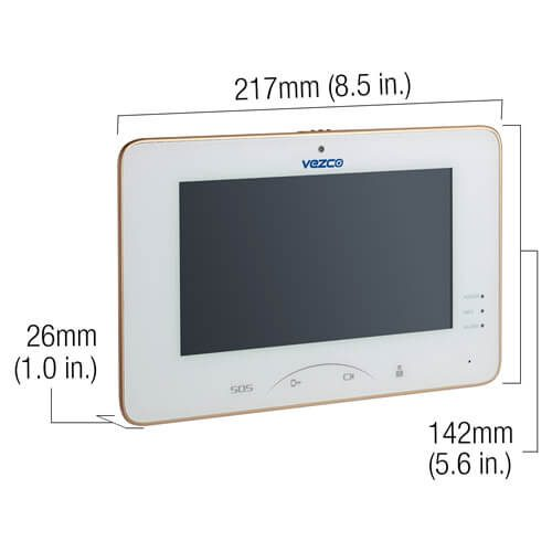 Dimensions Touch Screen Video Indoor IP and Wi-Fi Station Intercom Monitor