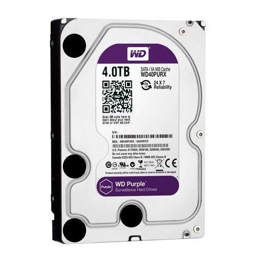 WD40PURX - WD Purple 4TB Surveillance Hard Disk Drive