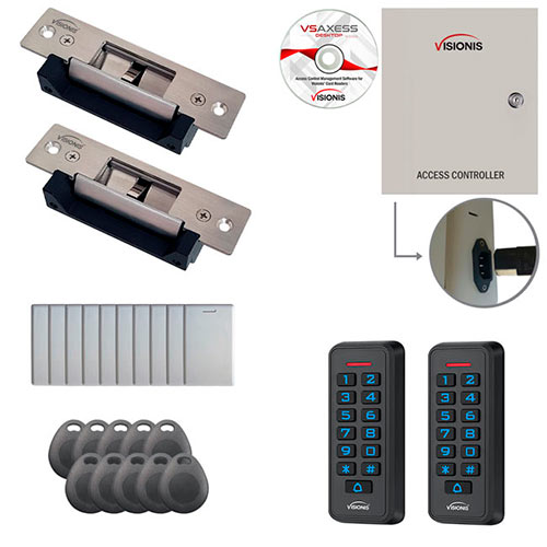 visionis fpc 7284 two door access control electric strike lock timevisionis fpc 7284 two door access control electric strike lock time attendance tcp ip rs485 wiegand controller box with power supply included, black outdoor