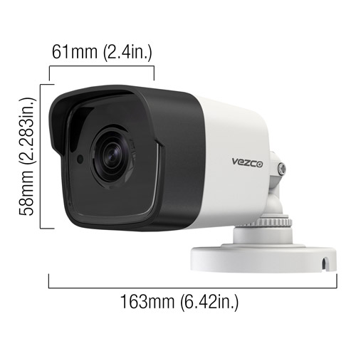 VZ-TVI-B5520 - dimensions 5 MP Bullet Camera
