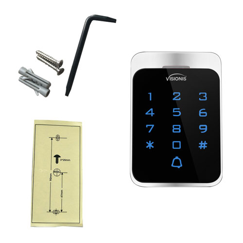 keypad standalone box included items VIS-3022