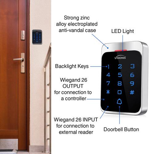 Access Control Outdoor Weatherproof Keypad VIS-3022