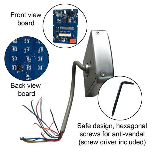Keypad Rear view VIS-3022