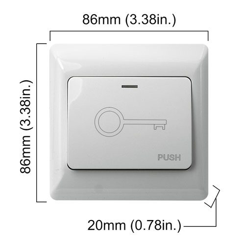 push to exit button wired VIS-7030