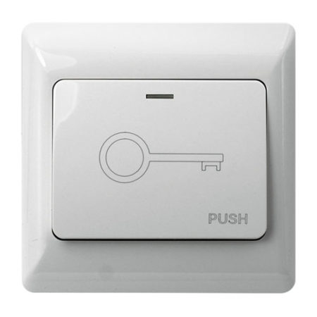Push to Exit Button White Wide for Access Control VIS-7030