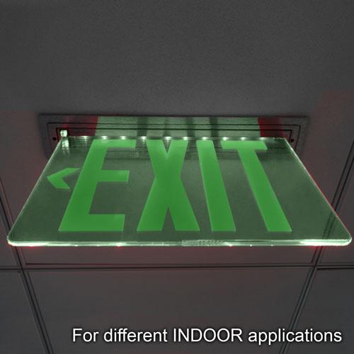 VIS-ESGGL exit sign installed