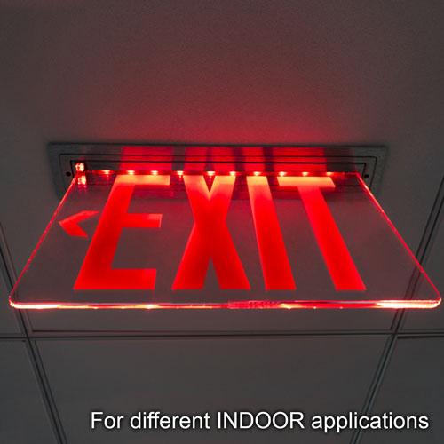 VIS-ESRGL exit sign installed