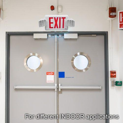 VIS-ESRWEL exit sign installed