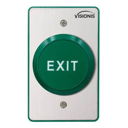 VIS-7035 - Indoor Big Round Green Handicap Request to Push to Exit Button for Door Access Control