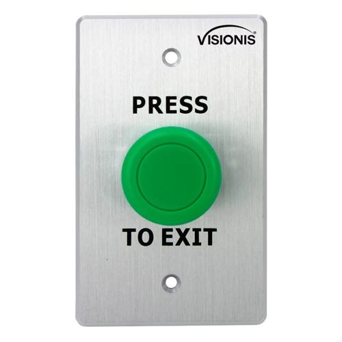 VIS-7032 – Indoor Big Green Request to Push to Exit Button for Door Access Control with NC COM and NO Outputs