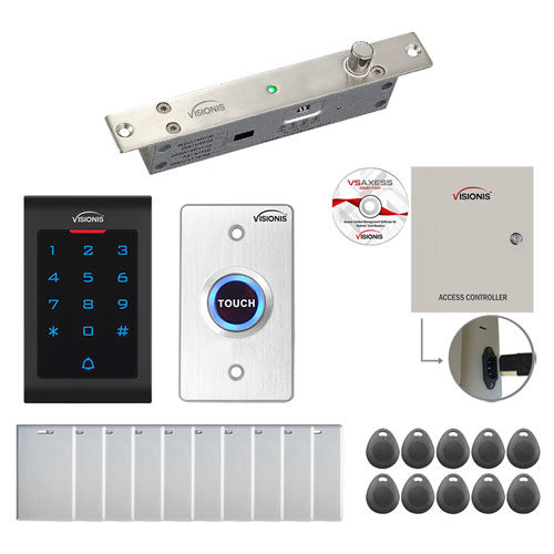 One Door Access Control Electric Drop Bolt Fail Secure Time Attendance TCP/IP Wiegand Controller Box FPC-8015