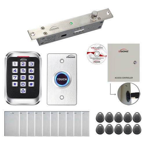 One Door Access Control Electric Drop Bolt Fail Secure Time Attendance