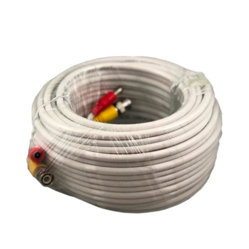 FPC-CCTV-50FT RG56/U BNC Premade Wire/Cable, 50FT, White Color
