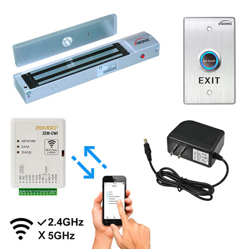 Access Control with Android + Apple App, Web Browser + Smartphone Remote Viewing