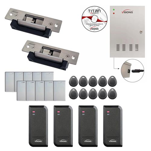 Access Control Electric Strike Fail Safe and Fail Secure Time Attendance + Entry and Exit Card Readers