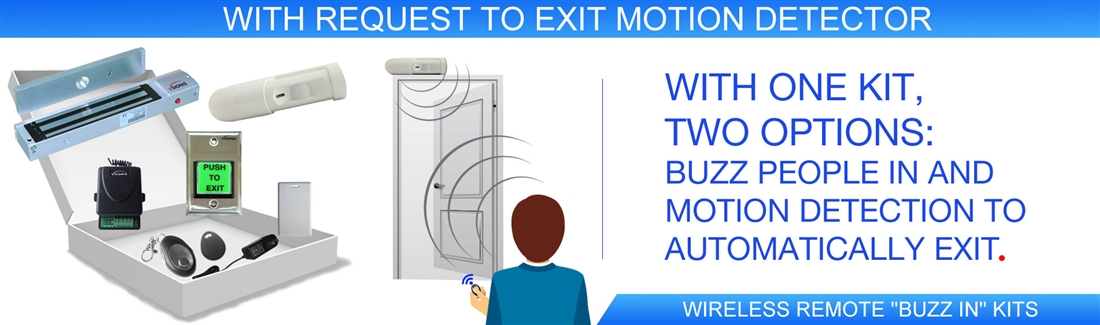 With Request to Exit Motion Detector