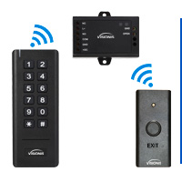 Wireless Keypad and Wireless Exit Button Entry Kits