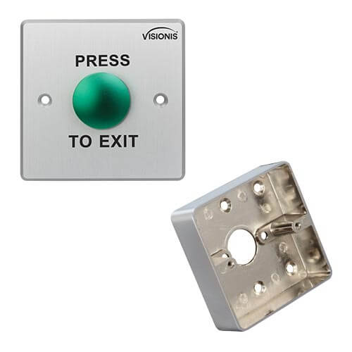 FPC-5402 Round sturdy Stainless steel Request to exit Button for Door access Control Wide Size With Zinc Alloy Gang Box