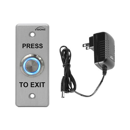 FPC-5405 Outdoor Weather and WaterProof Stainless Steel Door Bell Type Round Request To Exit Button Slim Size for Door Access Control with Power Supply