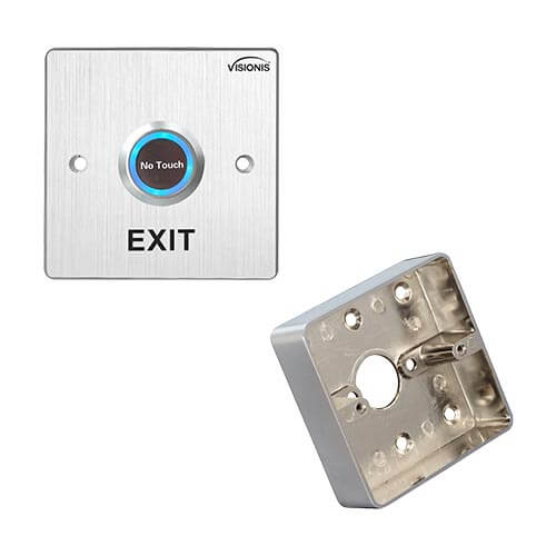 FPC-5423 Stainless Steel No Touch Request To Exit Button With Time Delay Wide Size with Zinc Alloy Back Box