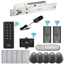 Visionis FPC-6389 Black Indoor One Door Access Control Outswinging 2.4Ghz Wireless Keypad/Reader Hard Wired 1700lbs Electric Drop Bolt Fail Safe PIR Included Kit