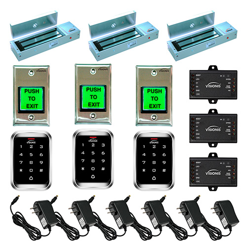 FPC-5124 Three door Access Control outswinging door 1200lbs Electromagnetic lock with Visionis Outdoor Keypad  sc 1 st  FPC Security & FPC-5124 Three Door Access Control Outdoor Keypad Kit - FPC ...
