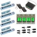 FPC-5011 Four door Access Control outswinging door 300lbs Electromagnetic lock kit with Seco-Larm wireless receiver and remote kit