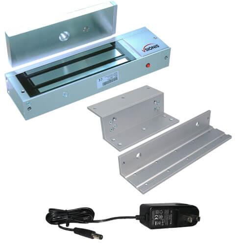 FPC-5226 1200lbs Indoor Maglock with 1200 lbs U Bracket for Glass Door