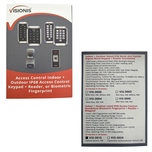VIS-3015 Packaging